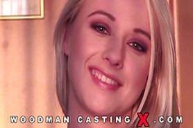 Жесткие кастинги блондинки у Вудмана