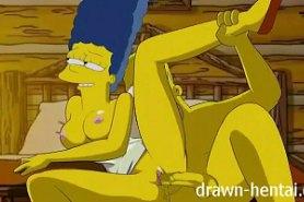 Голая Мардж Симпсон трахается с Гомером