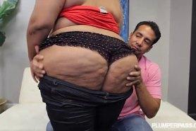 Жирная баба с огромной жопой